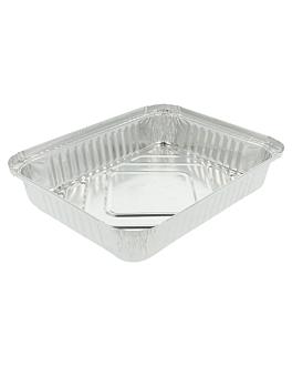 recipientes rectangulares 1100 ml 22,3x17x3,5 cm aluminio (100 unid.)