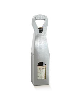 100 u. scatole 1 bottiglia 9x9x41 cm argento cartone (1 unitÀ)