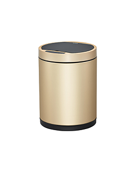 motion sensor trash can 50l Ø 32x70 cm gold stainless steel (1 unit)