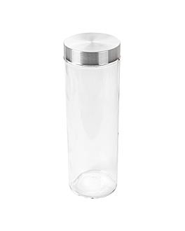 cylindrical storage jar 1900 ml Ø10x31 cm clear glass (12 unit)