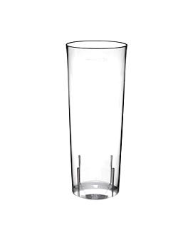 "tubos inyectados ""cuba libre"" 300 ml Ø 5,9x15,2 cm transparente cristal ps (500 unid.)"