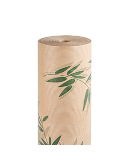 papel envoltorio 'feel green' 60 g/m2 0,7x100 m natural kraft verjurado (1 unid.)