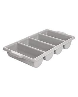 recipiente cubiertos gastronorm 1/1 53,5x30x10 cm gris pp (1 unid.)