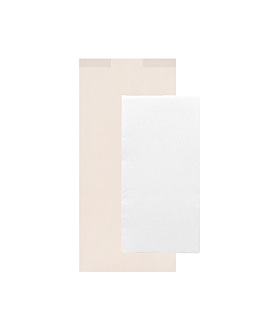 wrapped white napkins 'd.point' 40x32 cm 'just in time closed' 40 + 10pe gsm 11x25 cm white cellulose (300 unit)