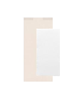 serviettes blanches emb. 'd.point' 40x32 cm 'just in time closed' 40 + 10pe g/m2 11x25 cm blanc cellulose (300 unitÉ)