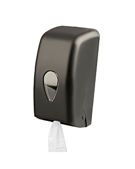 handtowel dispenser 'mini barril' 14x15x28,5 cm black abs (1 unit)