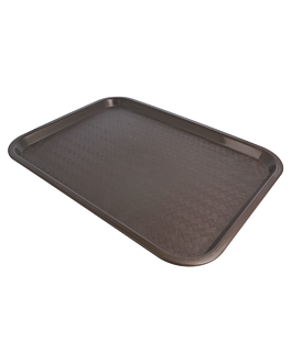 fast food tray 30,4x41,4 cm chocolate pp (1 unit)