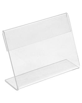 10 u. cavaletti per etichette 8x6,5x2 cm trasparente pvc (1 unitÀ)