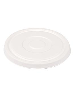 couvercles bas pour saladiers 231.26/224.32 'bionic' Ø16 cm blanc bagasse (600 unitÉ)