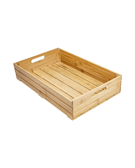buffet kiste gn 1/1 53x32,5x10 cm natur bambus (1 einheit)