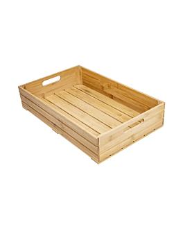 scatola buffet gn 1/1 53x32,5x10 cm naturale bambÙ (1 unitÀ)