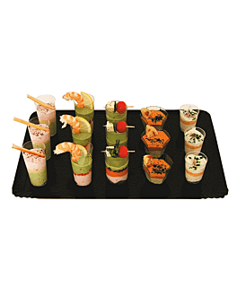 traiteur trays 1100 gsm 32x42 cm gold/black cardboard (100 unit)