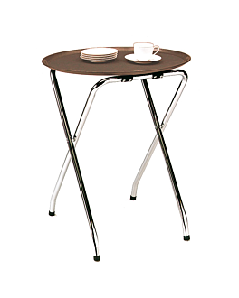 tray stand 47,5x39x72 cm silver steel (1 unit)