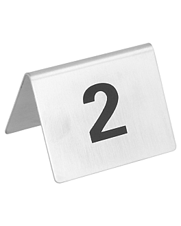 tabletop numbers from 1 to 25 5,2x4,2 cm silver stainless steel (1 unit)