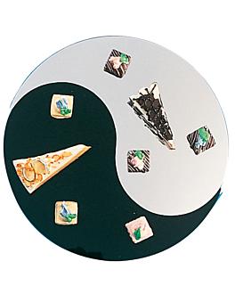 """spiegelplatten """"ying & yang"""" Ø 61x0,5 cm acryl (2 einheit)"""