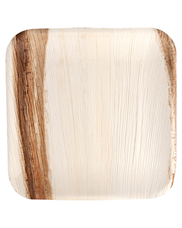 platos cuadrados 'areca' 24x24x2 cm natural areca (200 unid.)