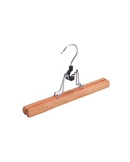 trouser hangers 25 cm natural wood (48 unit)