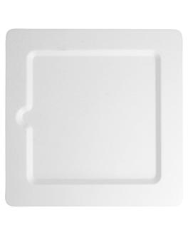 piatti quadrati 'bionic' 20x20x1 cm bianco bagassa (200 unitÀ)