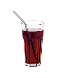 bicchieri impilabili 355 ml Ø 7,6x13,9 cm trasparente policarbonato (18 unitÀ)