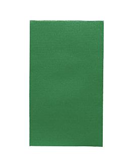servilletas ecolabel p. 1/6 'double point' 18 g/m2 33x40 cm verde noËl tissue (2000 unid.)