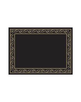 table mats 'troya' 48 gsm 31x43 cm black cellulose (2000 unit)