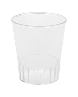 injected mini cups 60 ml Ø 4,8x5,6 cm clear ps (500 unit)