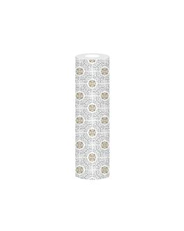 chemins de table 'allure' 55 g/m2 0,30x12 m blanc dry tissue (6 unitÉ)