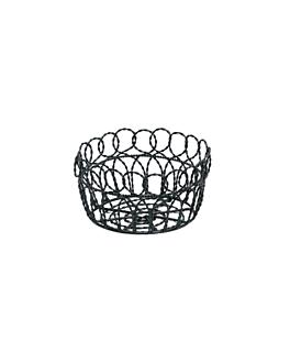 basket rond Ø 19x10 cm noir acier (1 unitÉ)