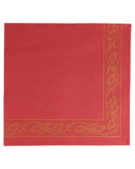 ecolabel napkins 'double point - pÉrsico' 18 gsm 40x40 cm burgundy tissue (1200 unit)