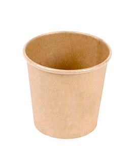 small containers 90 ml 210 + 18 pe gsm Ø6,15/4,55x5,8 cm brown cardboard (1000 unit)