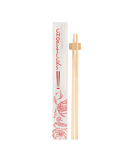 pauzinhos chineses embalados 24 cm natural bambÚ (100 unidade)