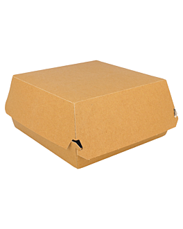 burger boxes giant 300 gsm 17,5x18x7,5 cm brown cardboard (50 unit)