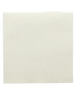 serviettes ecolabel 'double point - miami' 18 g/m2 40x40 cm ivoire ouate (1200 unitÉ)