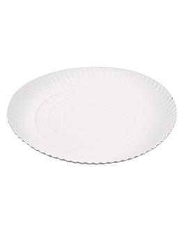 piatti goffrati pasticceria Ø 26 cm bianco cartone (50 unitÀ)