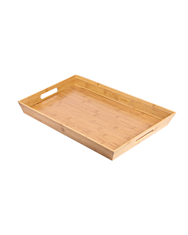 tray 40x30x4,5 cm natural bamboo (1 unit)