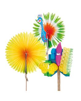 """decorazioni per gelati """"cinesi"""" 10,7 (h) cm colori varie legno (144 unitÀ)"""