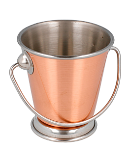 mini ice buckets Ø 7x7 cm copper stainless steel (12 unit)