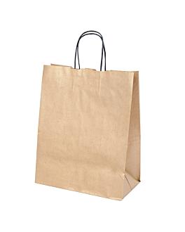 sacos sos con asas. 80 g/m2 26+14x32 cm oro kraft (250 unid.)