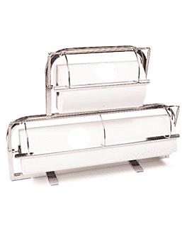 dispenser per rotoli carta 31/62 cm argento acciaio inox (1 unitÀ)