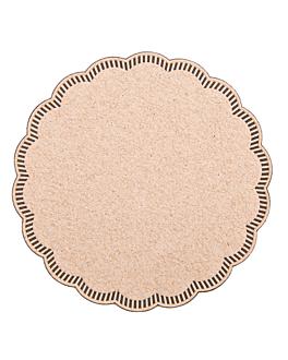 bases para copos 9 camadas 8x18 g/m2 + (30+12) g/m2 Ø9 cm castanho tissue (3000 unidade)