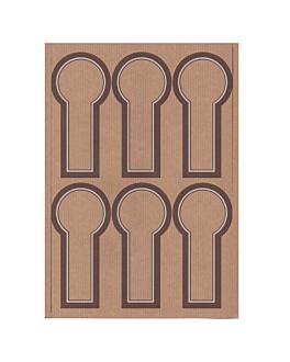 100 fogli din a4 6 etichette allungate Ø 6x12,5 cm kraft (1 unitÀ)
