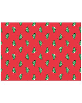 """sets de table kraft """"christmas trees"""" 60 g/m2 31x43 cm rouge cellulose (2000 unitÉ)"""