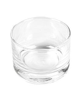 mini vetro rotondo 4 oz Ø6,7x5 cm trasparente cristal (72 unitÀ)