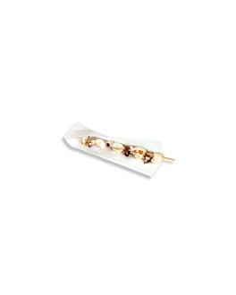 bolsas abiertas pinchos, hot dogs 'open pack' 50 g/m2 + 20 peld 22x7,6 cm blanco kraft (100 unid.)