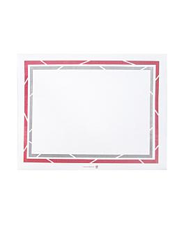 sets de table pour plateaux 'self-service' 48 g/m2 25x31 cm blanc papier (2000 unitÉ)