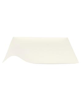 platos kaku l 'bionic' 20,4x3,6 cm blanco bagazo (100 unid.)