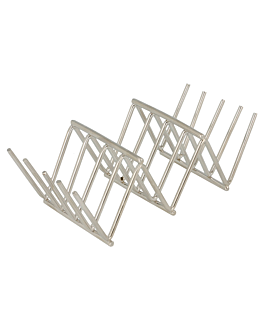 mini taco rack 11,8x5,1x3,7 cm silver stainless steel (1 unit)