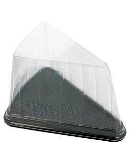 300 u. triangular containers for cakes 12,4x8,75x8,2cm clear pet (300 unit)