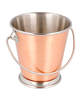 mini ice buckets Ø 9x9 cm copper stainless steel (12 unit)