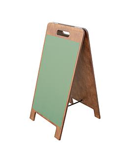 pizarra en Ángulo 2 caras magneticas 38x45x78 cm verde madera (1 unid.)